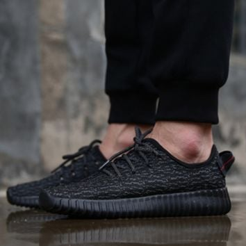 """Adidas"" Women Yeezy Boost Sneakers Running Sports Shoes Full Black"