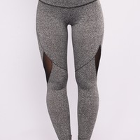 Jade Active Leggings - Charcoal