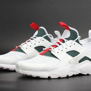 ... Black  huge discount fd334 6b590 ESBONVX Jacklish Custom Nike Air  Huarache Run Ultra White Green ... 848aac1e5