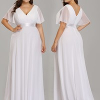 Plus Size Wedding Dress Simple Elegant Gown