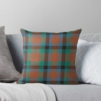 'MACDUFF HUNTING ANCIENT TARTAN' Throw Pillow by IMPACTEES