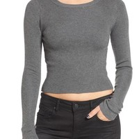 Dreamers by Debut Rib Knit Crop Sweater | Nordstrom