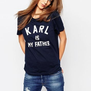 Eleven Paris T-Shirt in Karl Is My Father Print