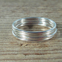Stacking Ring Sterling Silver Plain