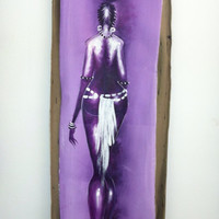 Sophisticated Lady, water carrier, painting, African art, African American art, Afrocentric, contemporary art