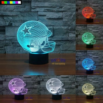 NFL Dallas Cowboys 3D Night LED Table Lamp