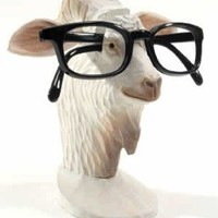 Goat Peeper - Wood Eyeglass And Business Card Holder