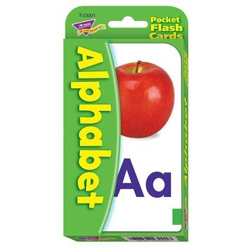 POCKET FLASH CARDS ALPHABET 56-PK