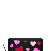 Kate Spade Secret Admirer Applique Heart Lacey Black Multi ONE