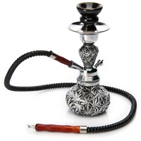 Metal Herb Leaves with Black Shading Hookah