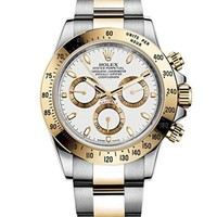 Rolex Daytona Grey Chronograph Steel And Yellow Gold Mens Watch