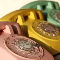 ring ring ring vintage rotary telephones FINE by TheJaneStudio