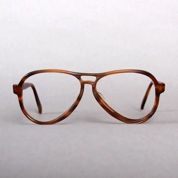 80s RAY-BAN Brown Vagabond FRAMES / 1980s Men's 56mm Sunglasses Glasses