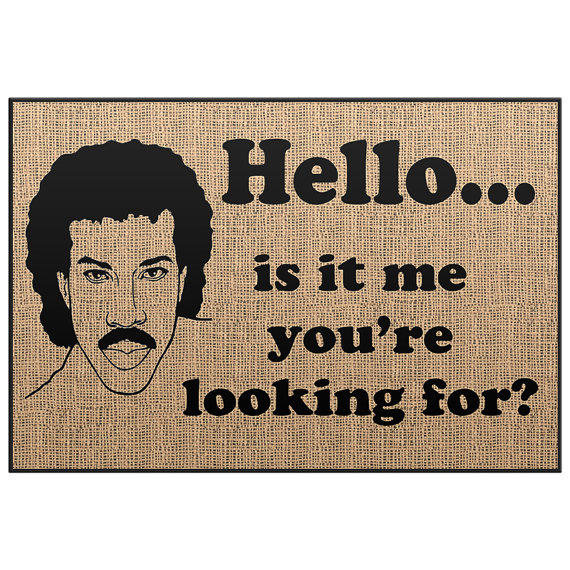 Lionel richie door mat welcome mat from stmaccessories on - Novelty welcome mats ...