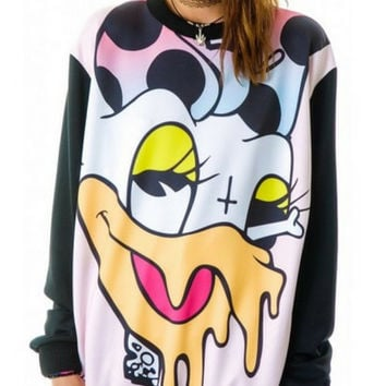 Acid Trip Melting Disney Character Oversized Shirt