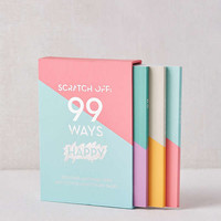 99 Ways Happy Scratch-Off Journal Set | Urban Outfitters