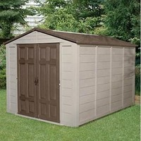 Suncast 7-1/2-Foot by 10-Foot Storage Building with Mocha Accents (Discontinued by Manufacturer)