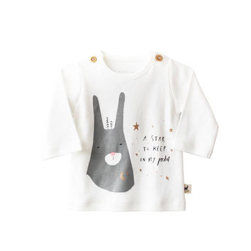 Rabbit Star Long Sleeve Baby Tee