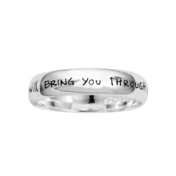 "JCPenney - ""If God Brings You To It"" Ring Sterling Silver customer reviews - product reviews - read top consumer ratings"