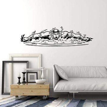 Vinyl Wall Decal Swimmer Swimming Pool Water Swim Interior Stickers Mural (ig5867)