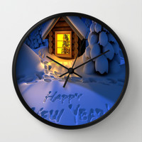 MERRY CHRISTMAS Wall Clock by Acus
