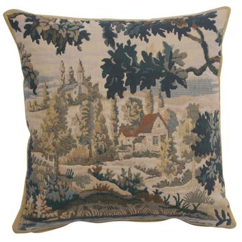 Paysage Flamand Village 1 European Cushion