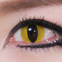GEO Crazy Yellow Cat Eye Contact Lens