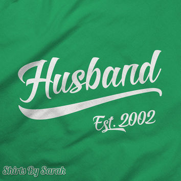 Personalized Husband T-Shirt - Husband Est. TShirts - Anniversary Shirt Wedding Tees Men's Custom