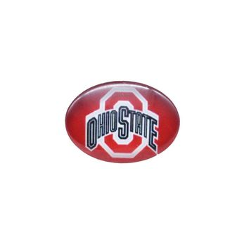 Snap Button 18mmX25mm NCAA Ohio State Buckeyes Charms Interchangeable Buttons Bracelet Football Fans Gift Paty Birthday Fashion