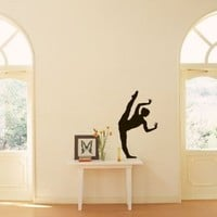 Sports Shapely Dancing Girl Ballet Ballerina Dance Studio Wall Vinyl Decal Art Sticker Home Modern Stylish Interior Decor for Any Room Smooth and Flat Surfaces Housewares Murals Graphic Bedroom Living Room (1949)