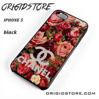 Floral Chanel 2 For Iphone 5 Iphone 5S Case YG