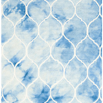 Safavieh Dip Dye Contemporary Indoor Area Rug Blue / Ivory