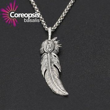 Coreopsis Jewelry 925 Sterling Silver Jewelry Retro Thai Silver Men And Women Handmade Eagle Feather Pendant 2017 New Product