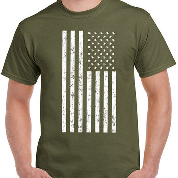 American Flag T Shirt men USA merica veterans day fourth of july pride america old glory cool military tee US plus size S-3XL