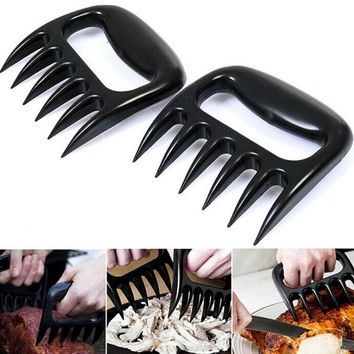 Pull Shred Pork BBQ Barbecue Tool Forks Food Picks Bento Bear Paws Claws Grizzly Claws Meat Handler Fork Tongs Accessories