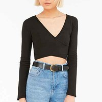 Truly Madly Deeply Lila Surplice Top - Urban Outfitters