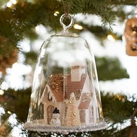 Lit House Cloche Ornament benefiting Give a Little Hope campaign