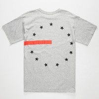 Black Scale 13 Stars & Stripes Mens T-Shirt Heather  In Sizes