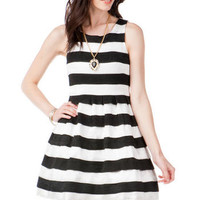 JUN & IVY STRIPED BANDAGED DRESS