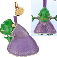 Licensed cool 2014 Disney Store Tangled Green Pascal Sketchbook Christmas Ornament Rapunzel