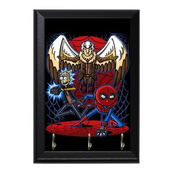 Spider Morty Vulture Person Decorative Wall Plaque Key Holder Hanger