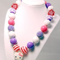 Hello Kitty Girls Boutique necklace Chunky Beaded Necklace infant and baby necklace
