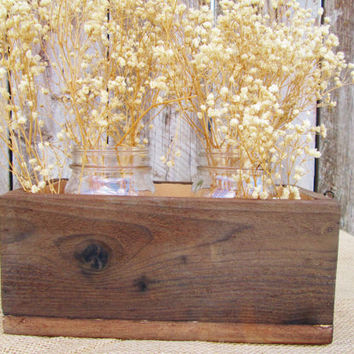 Rustic Wood Box, Wood Box, Wedding Centerpiece Box, Wedding Box