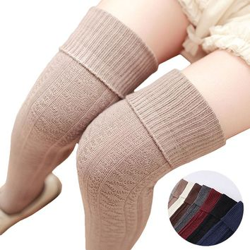 Diamond Knitted Color Collections Over The Knee Thigh Socks - Women High Socks