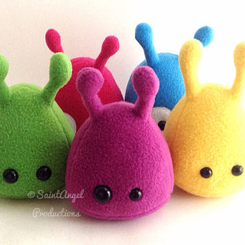 Custom Designed Stuffed Alien Plush, Small Plushie, MADE TO ORDER