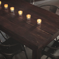 Thick Rustic Reclaimed Wood Traditional Farmhouse Dining Table & Desk // Doug Fir Salvaged from an Old LA warehouse