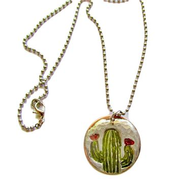 Hand Crafted Cactus Necklace