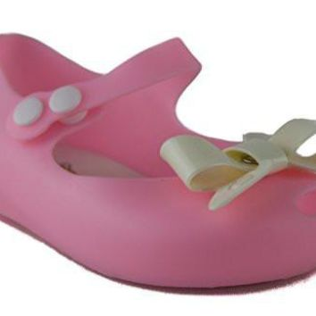 Girls IJ-2 Toddlers Bow Mary Jane Hidden Wedge Flat Shoes