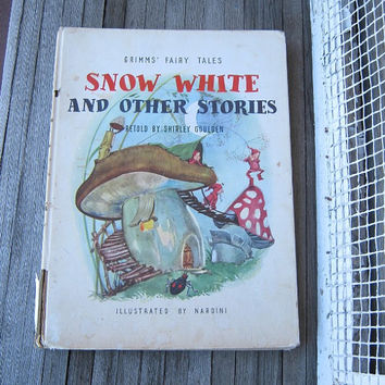 Vintage Snow White and Other Stories Illustrated by Nardini; Retold by Goulden; 1st Grosset Edition - Full Color Fairy Tale Pictures