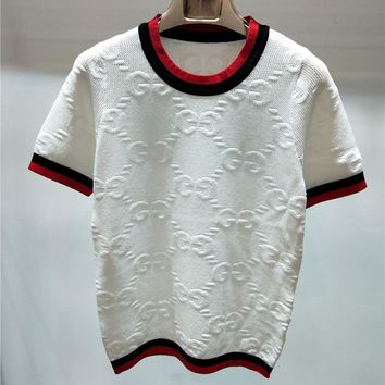 Gucci Women Fashion Casual Knitwear Shirt Top Tee